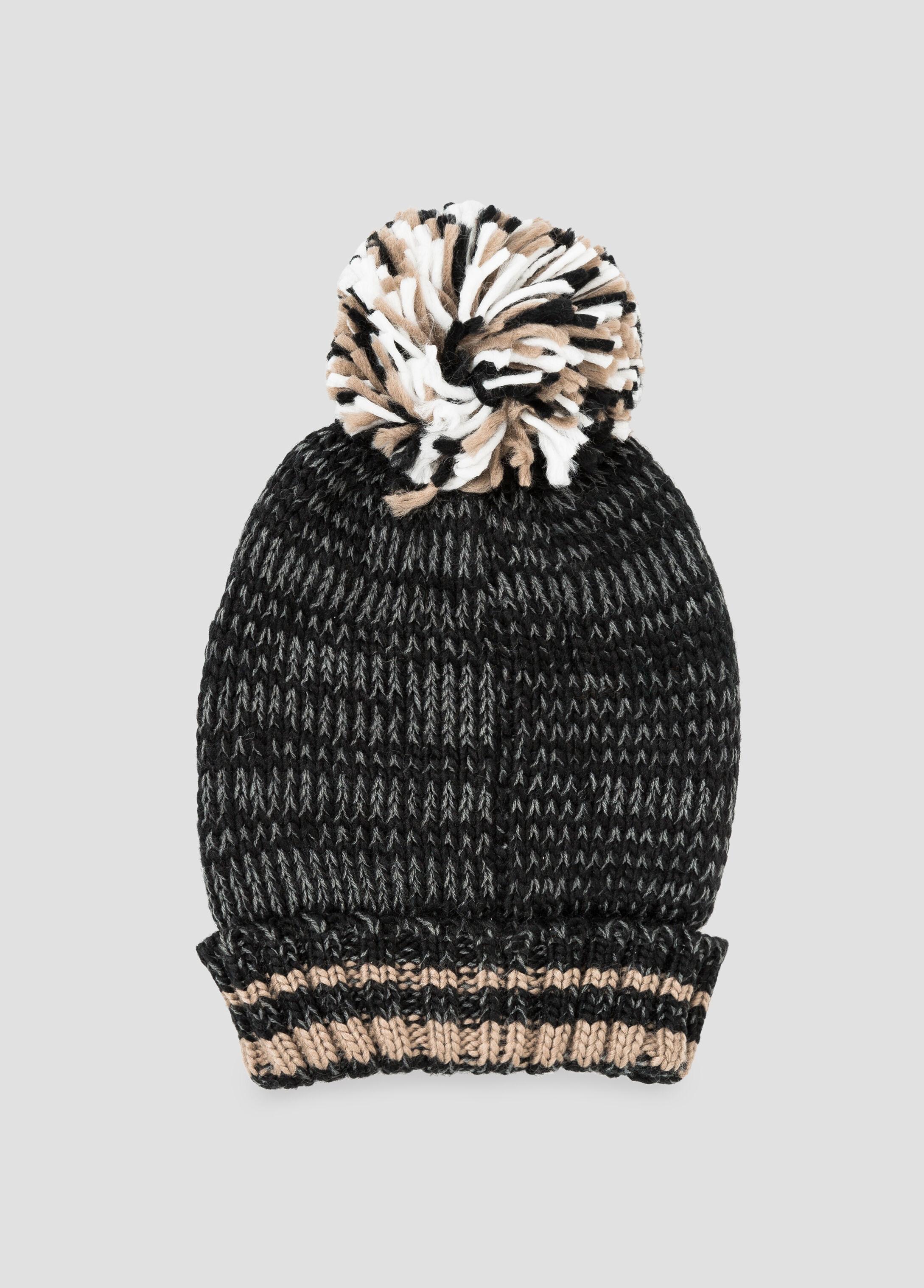 Brrrrr Striped Pom Pom Beanie