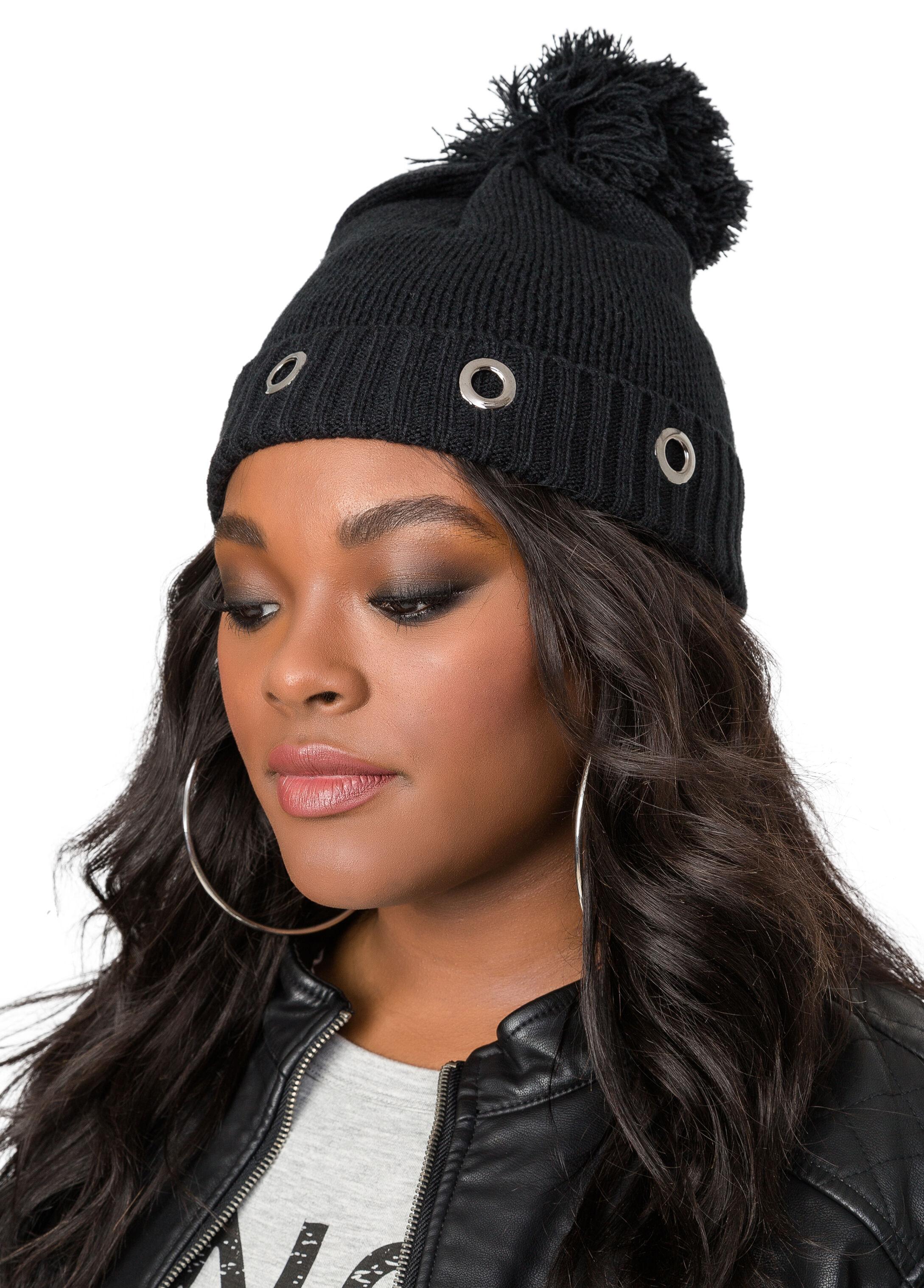 Grommet Cuff Beanie Hat