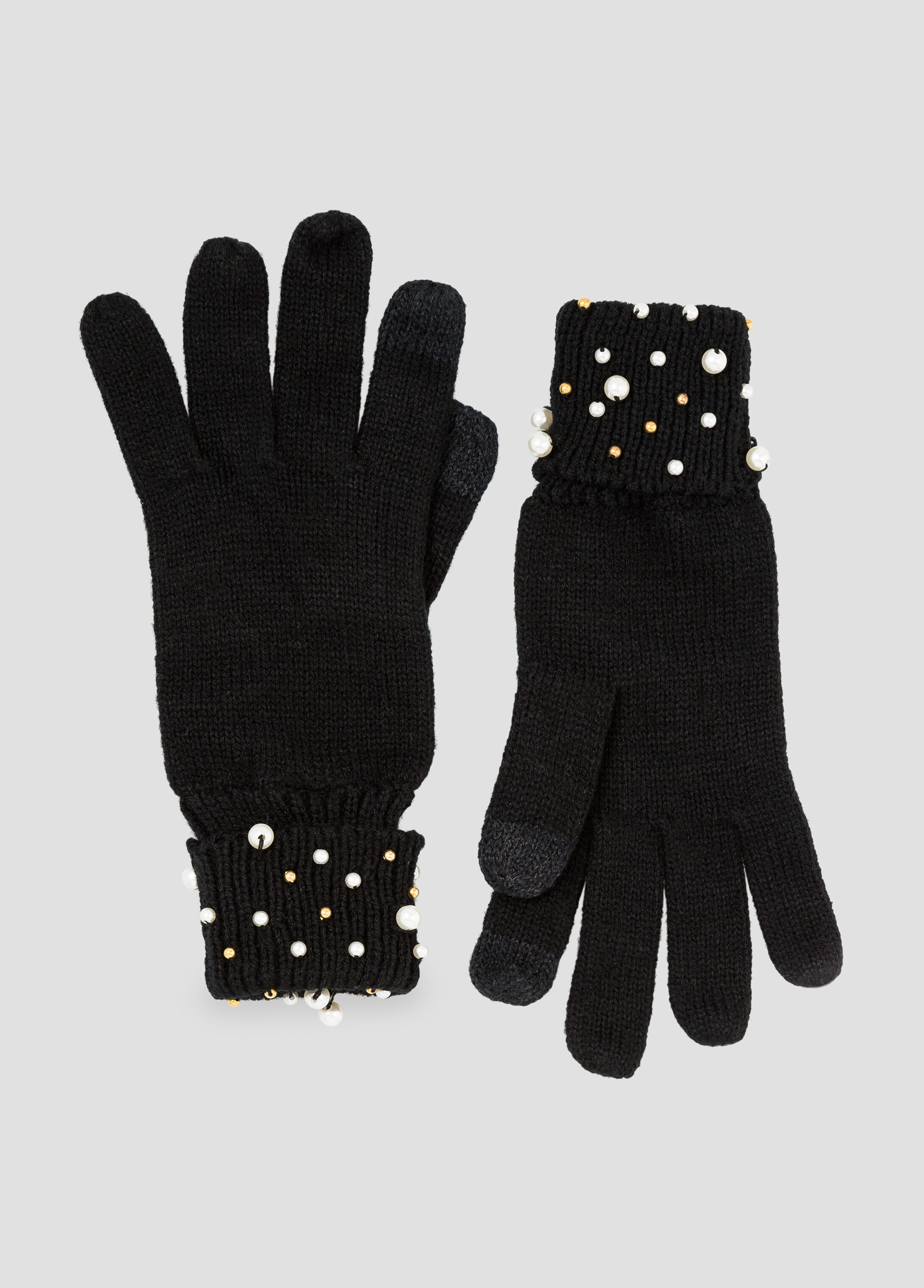 Pearl Cuff Smart Touch Gloves