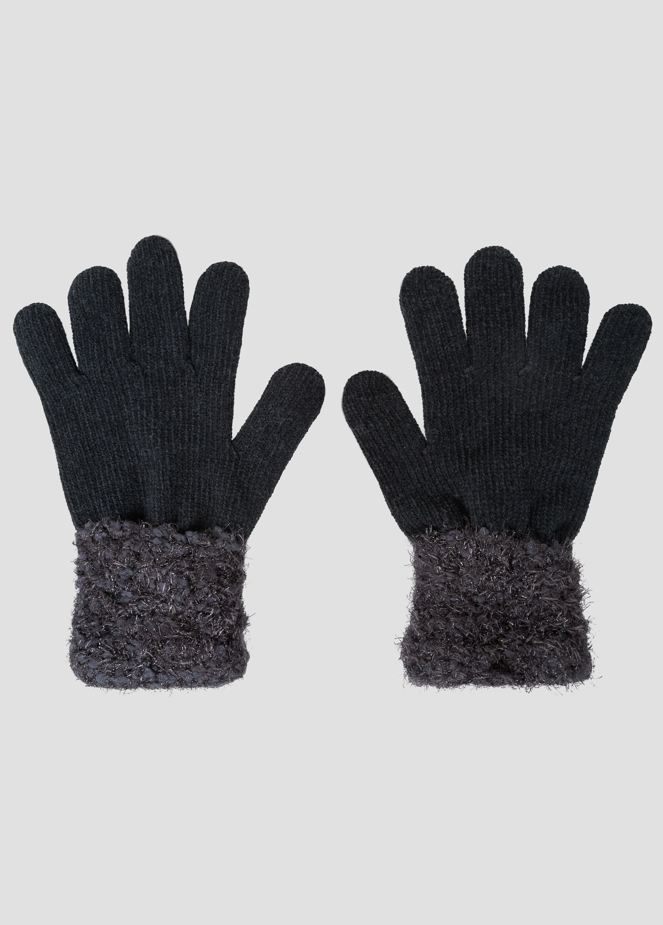 Soft Touch Contrast Cuff Gloves