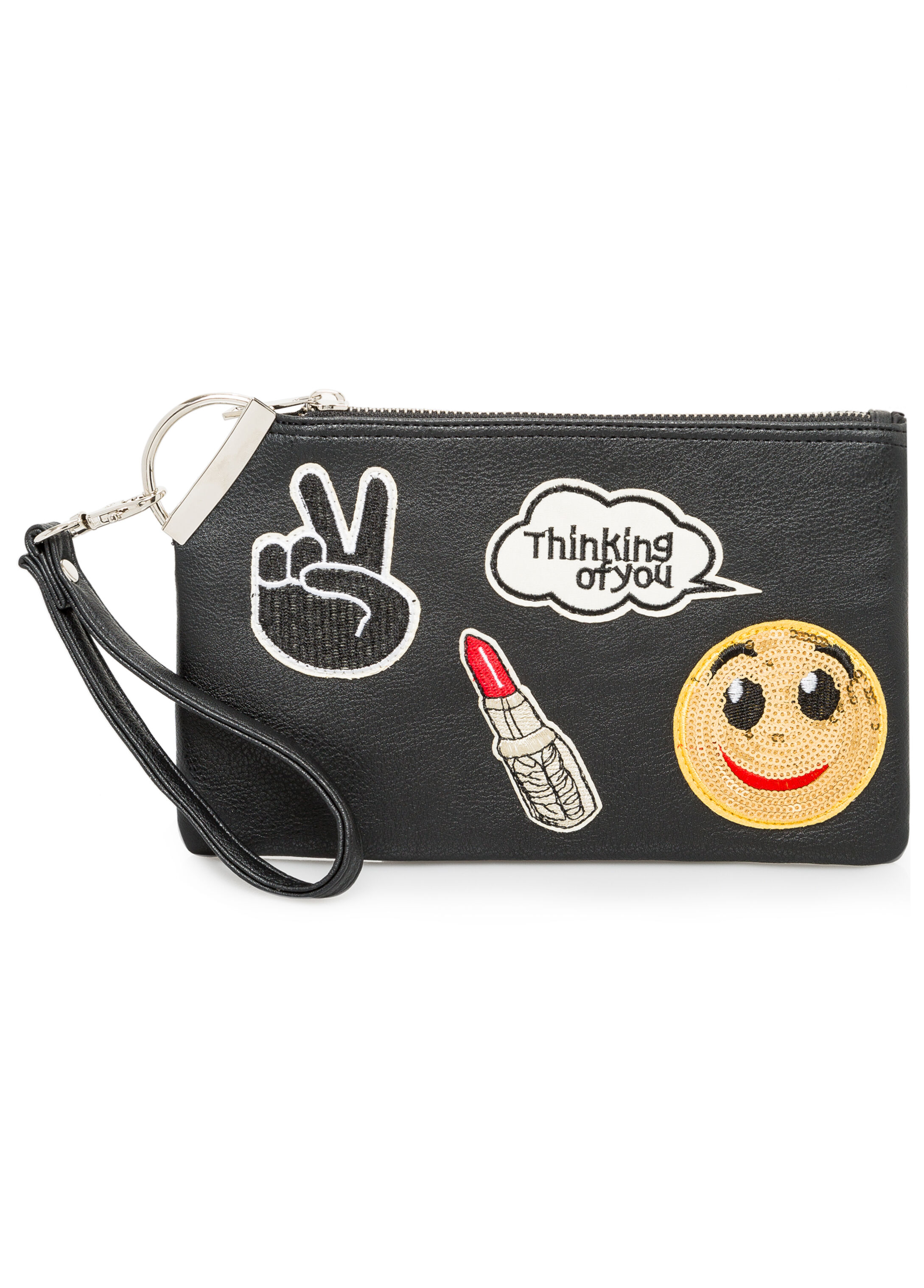 Emoji Patch Wristlet