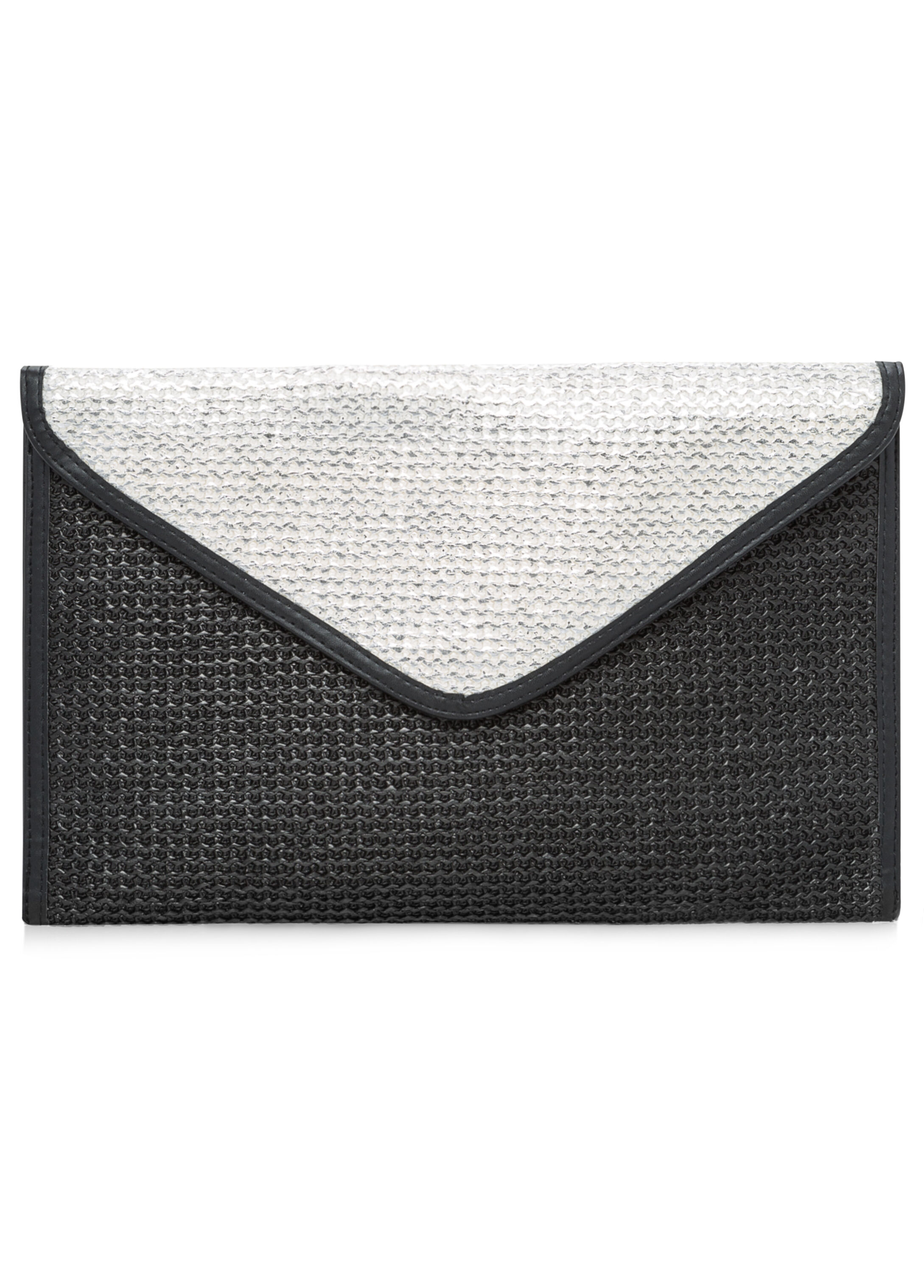 Metallic Straw Envelope Clutch