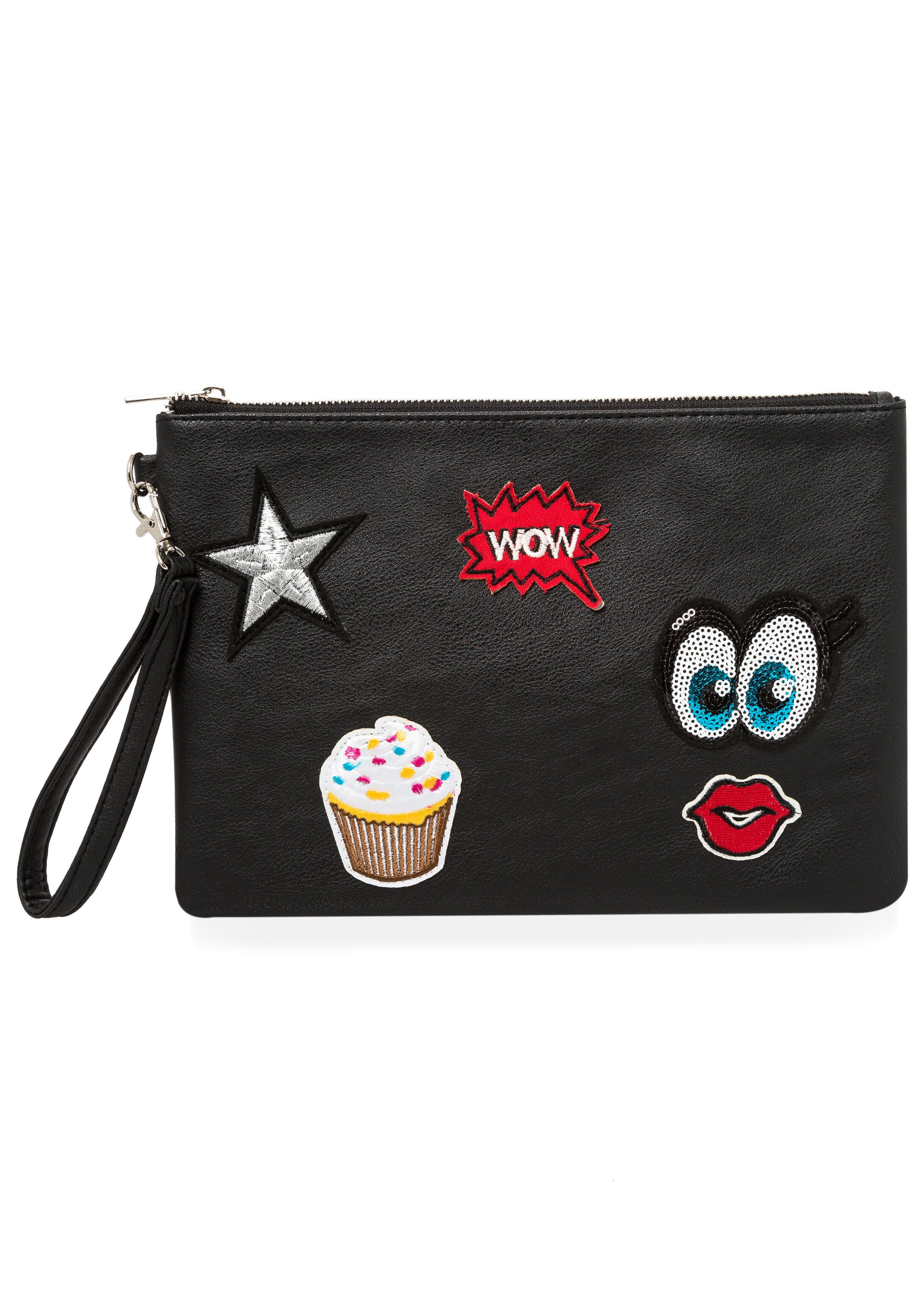 Patches Wristlet Clutch