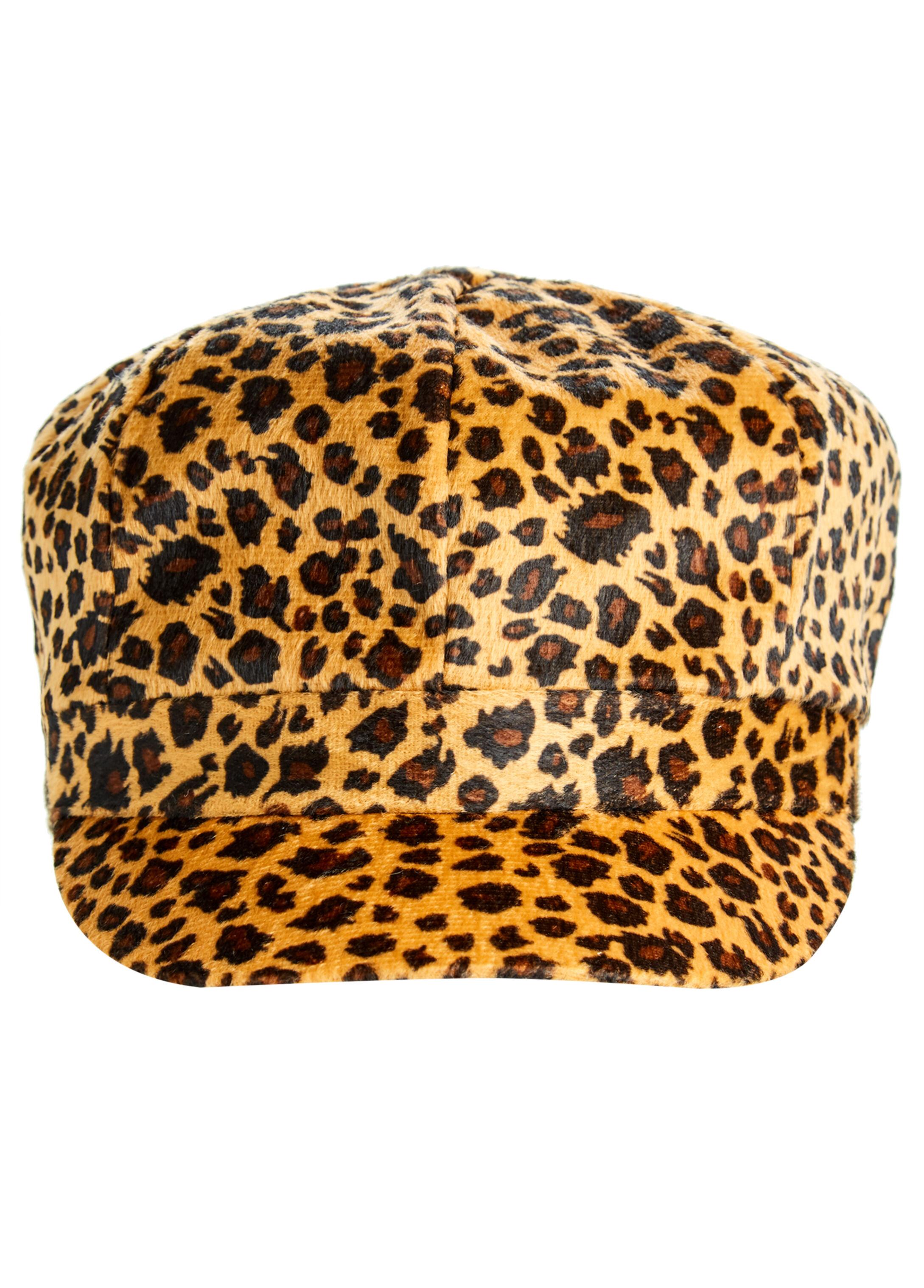 Animal Print Cabbie Hat