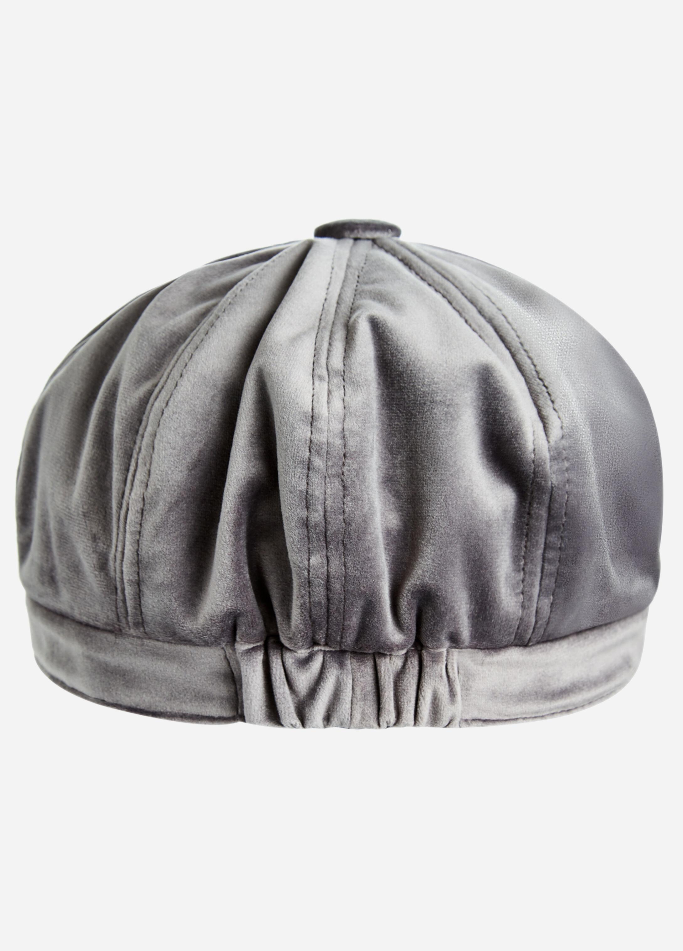Velvet Newsboy Hat
