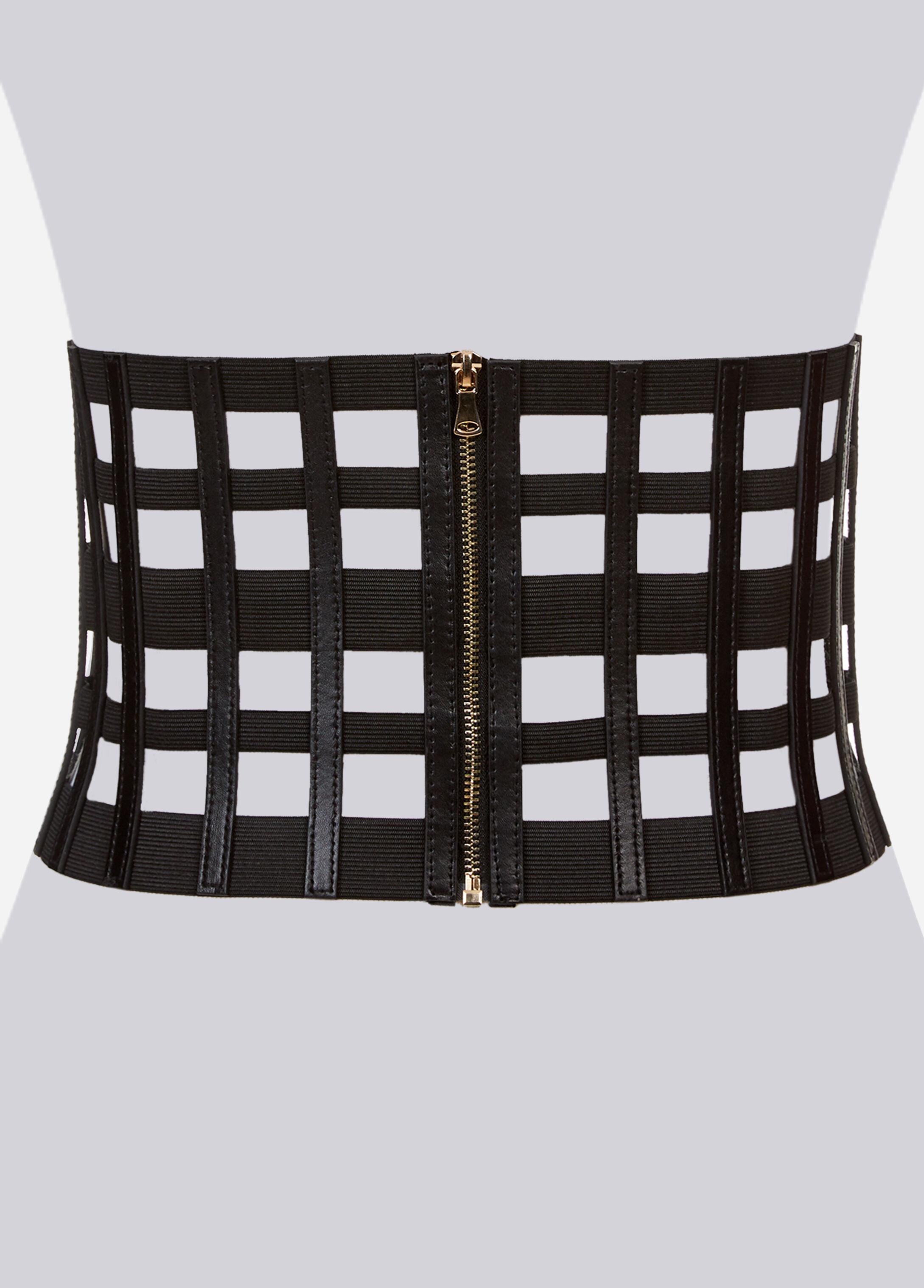 Extra Wide Cutout Zip-Up Belt