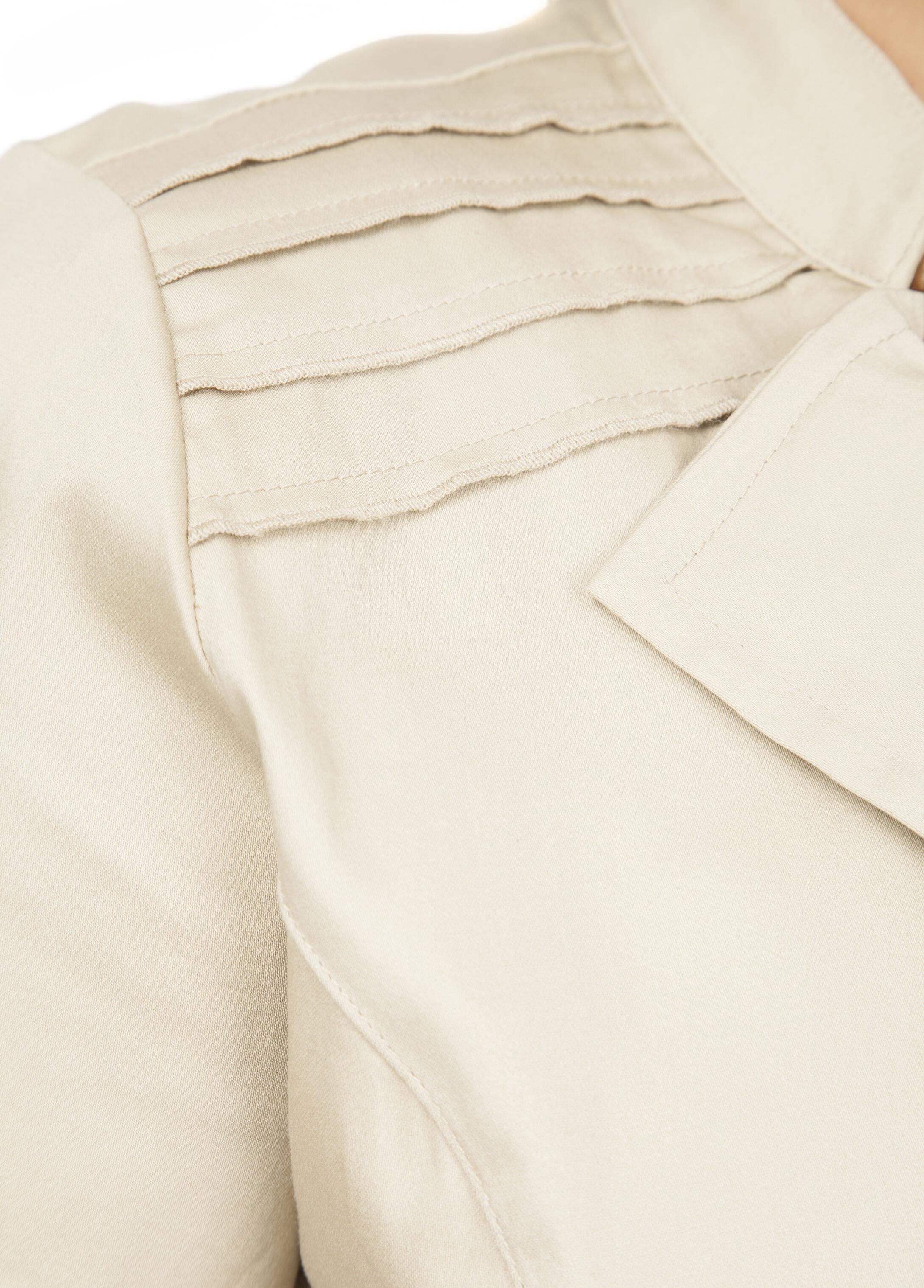 Short Sleeve Ruffled Cropped Jacket