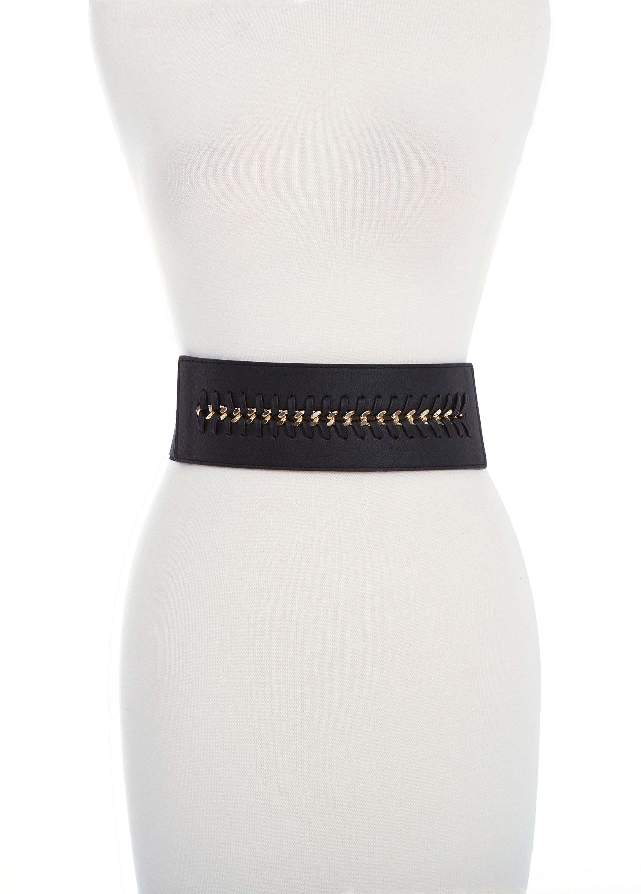 Chain Stitch Stretch Belt