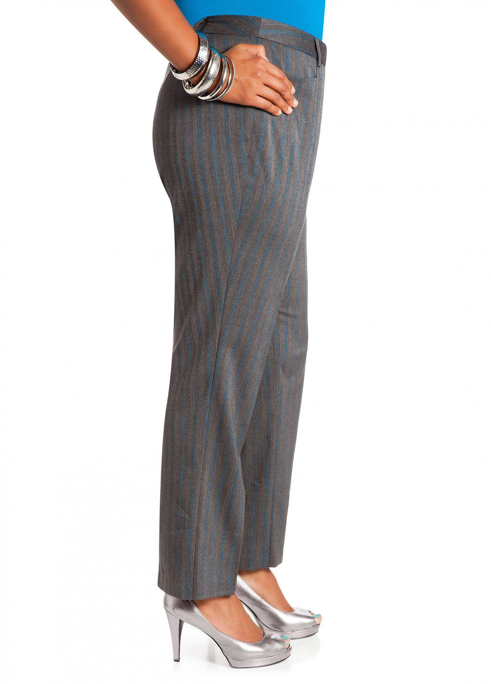 Striped Cat Eye Pocket Pants