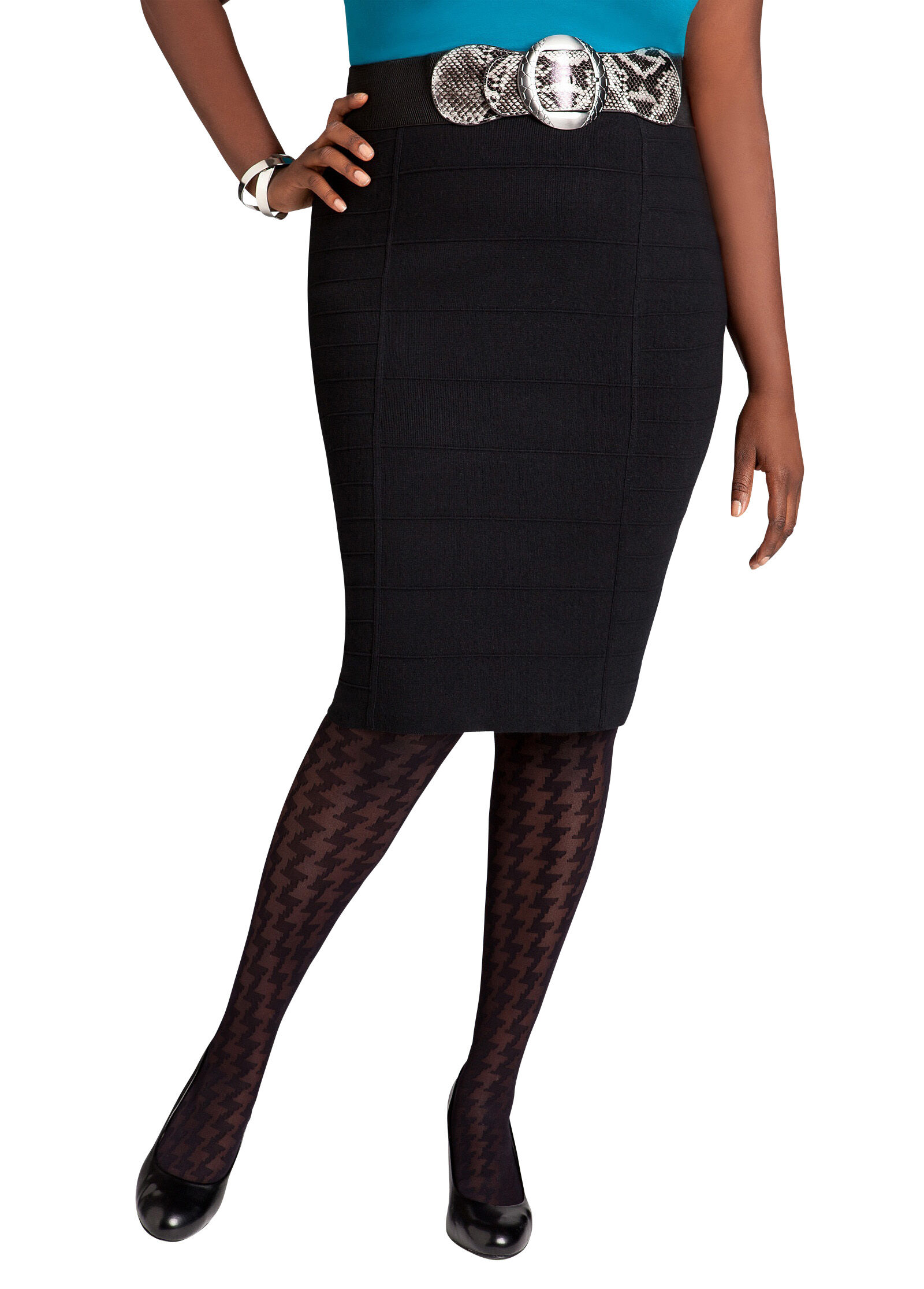 Banded Bodycon Skirt