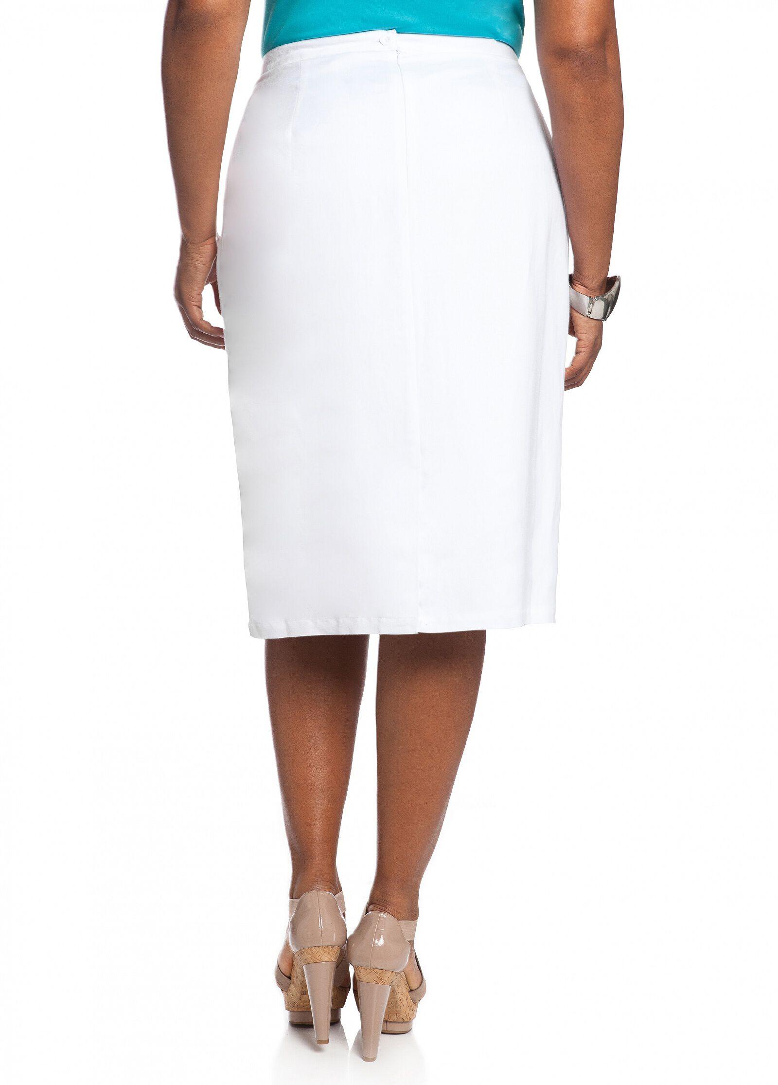 Faggoting Stitch Linen Skirt