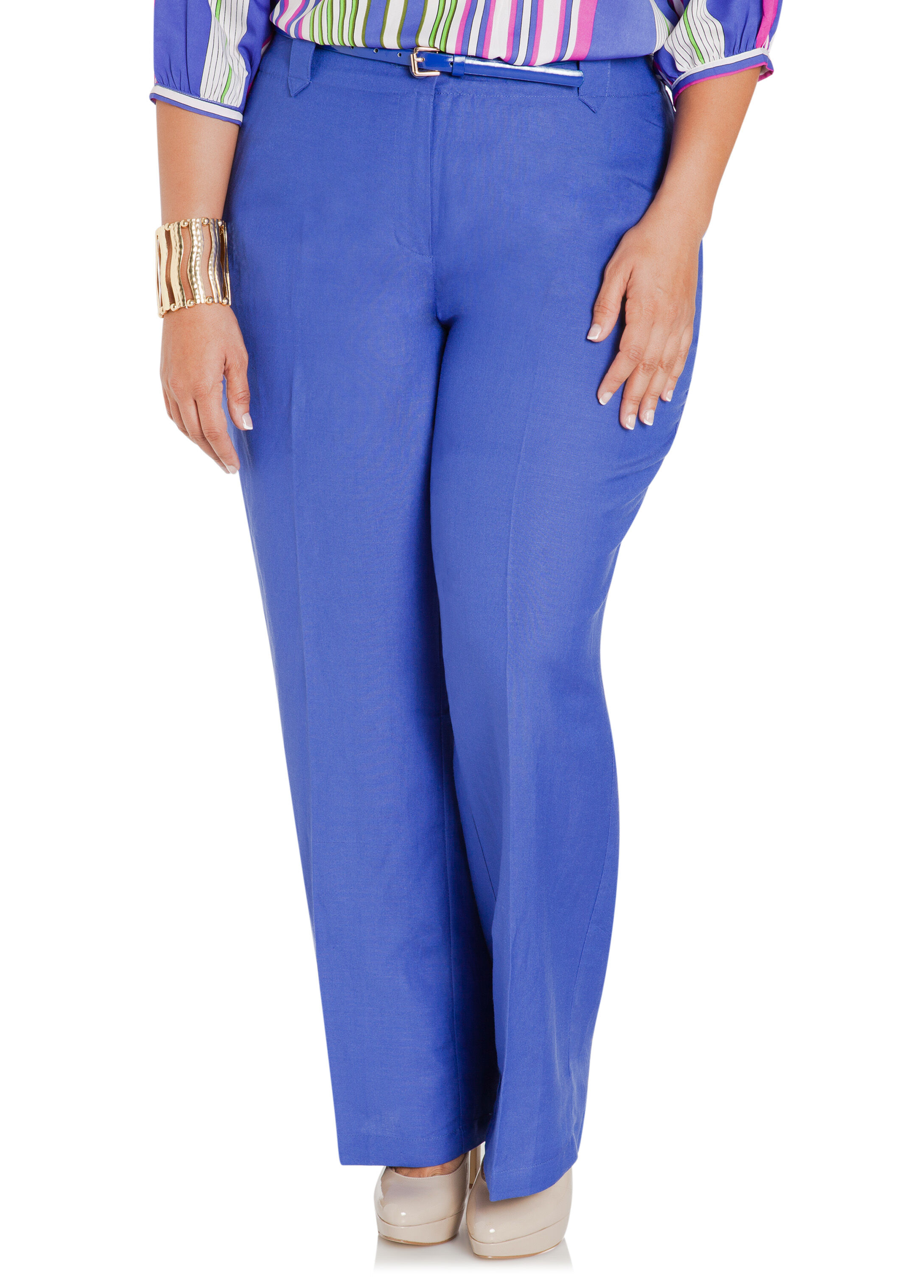 Belted Linen Pants