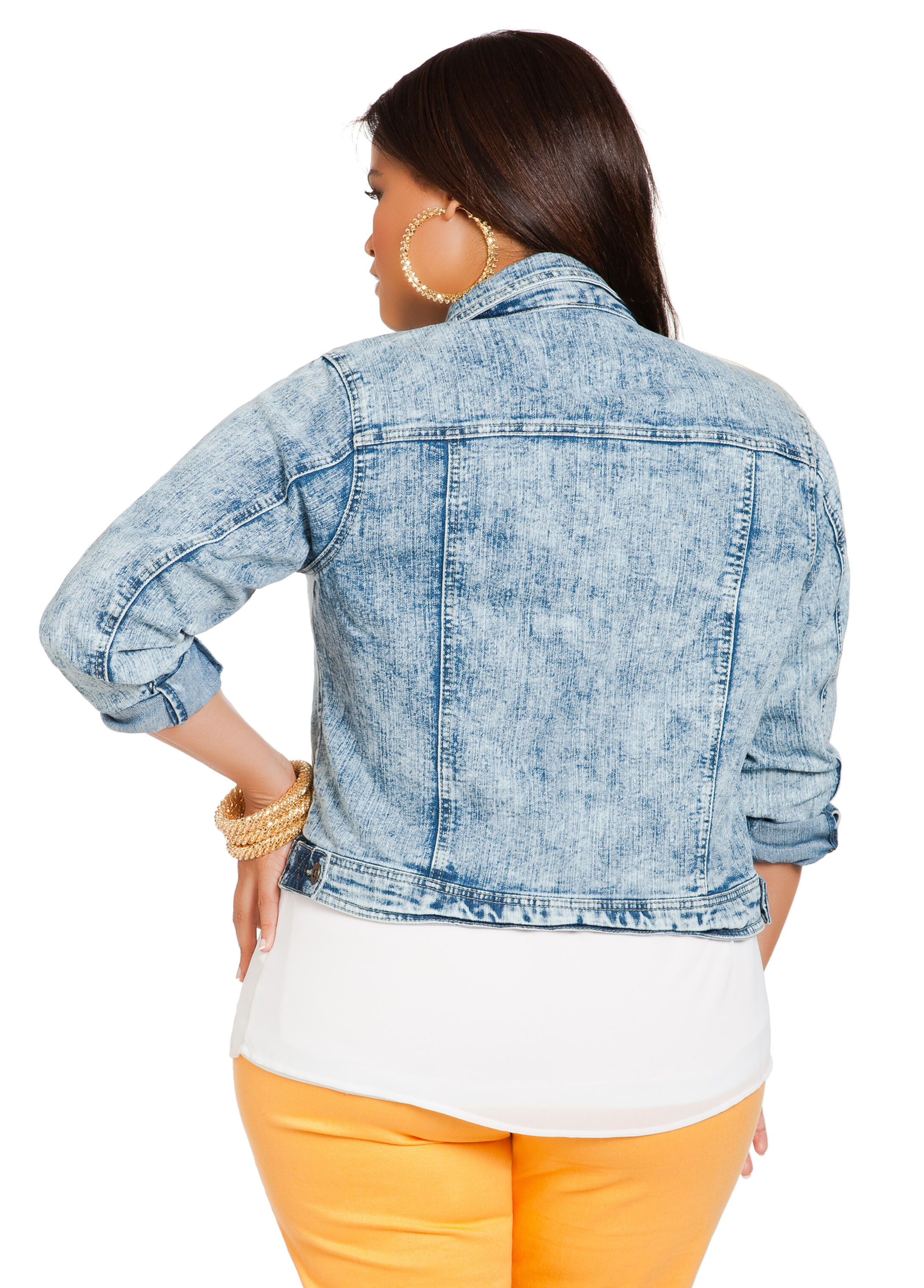 Cloud Wash Denim Jacket