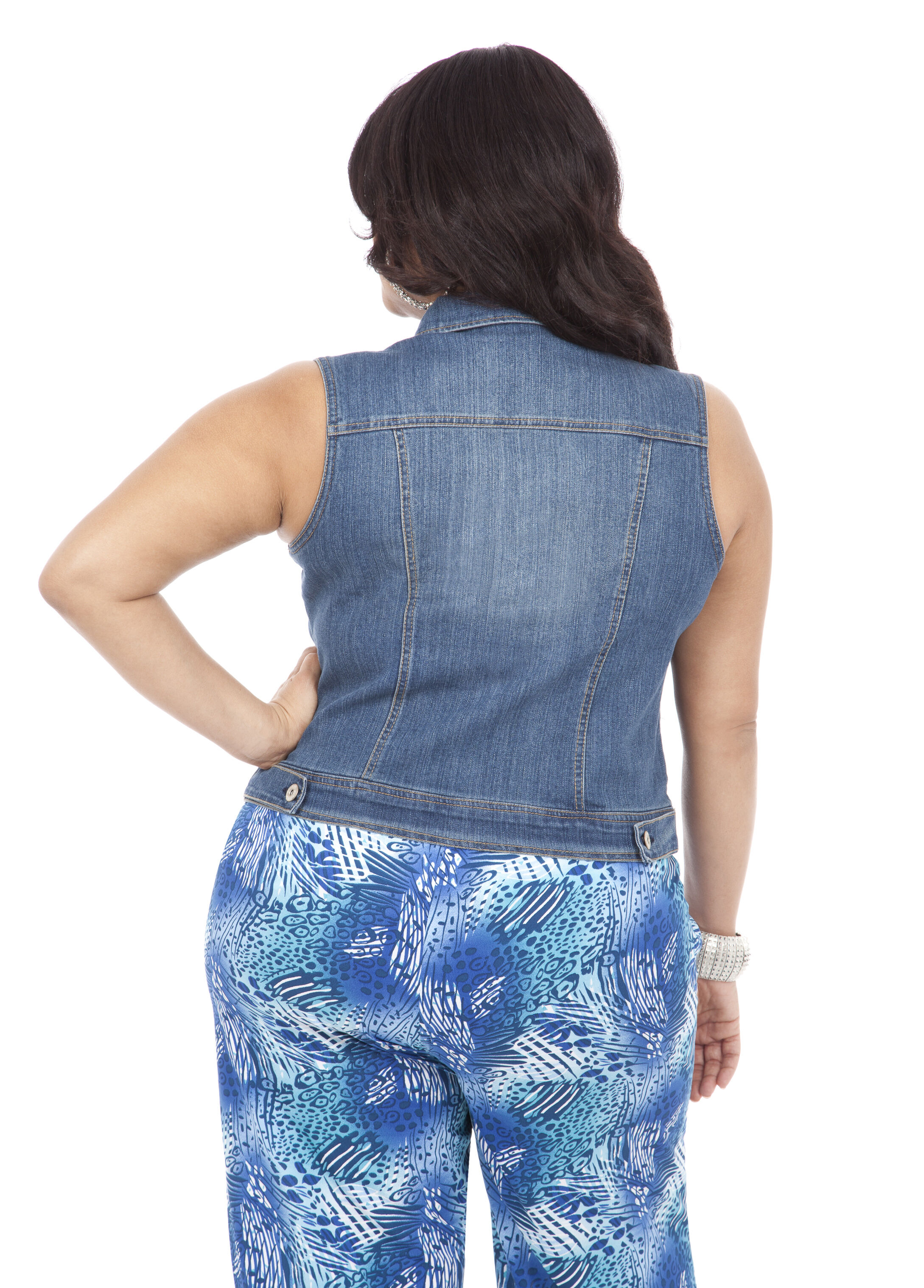 Midlength Denim Vest