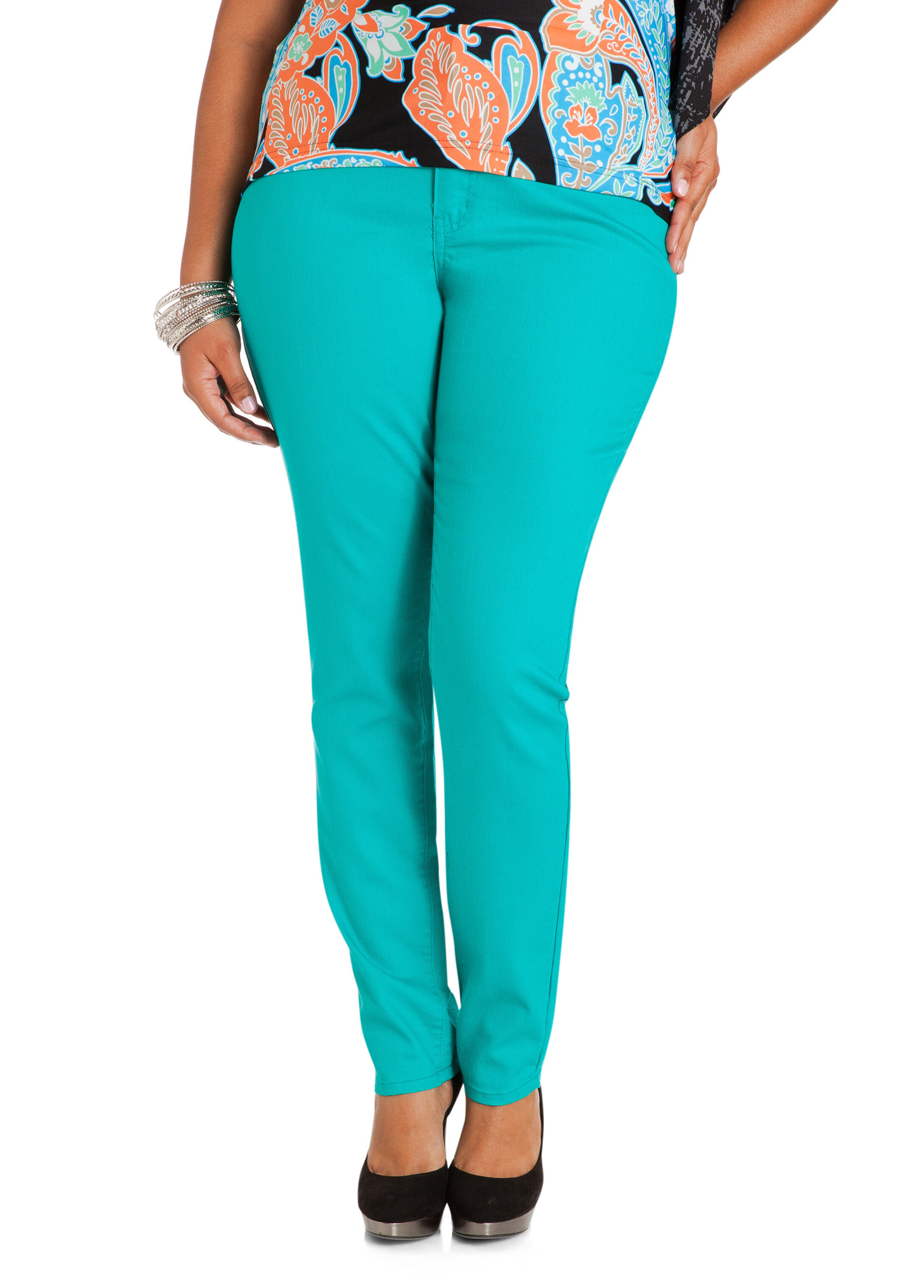 Turquoise Jeggings