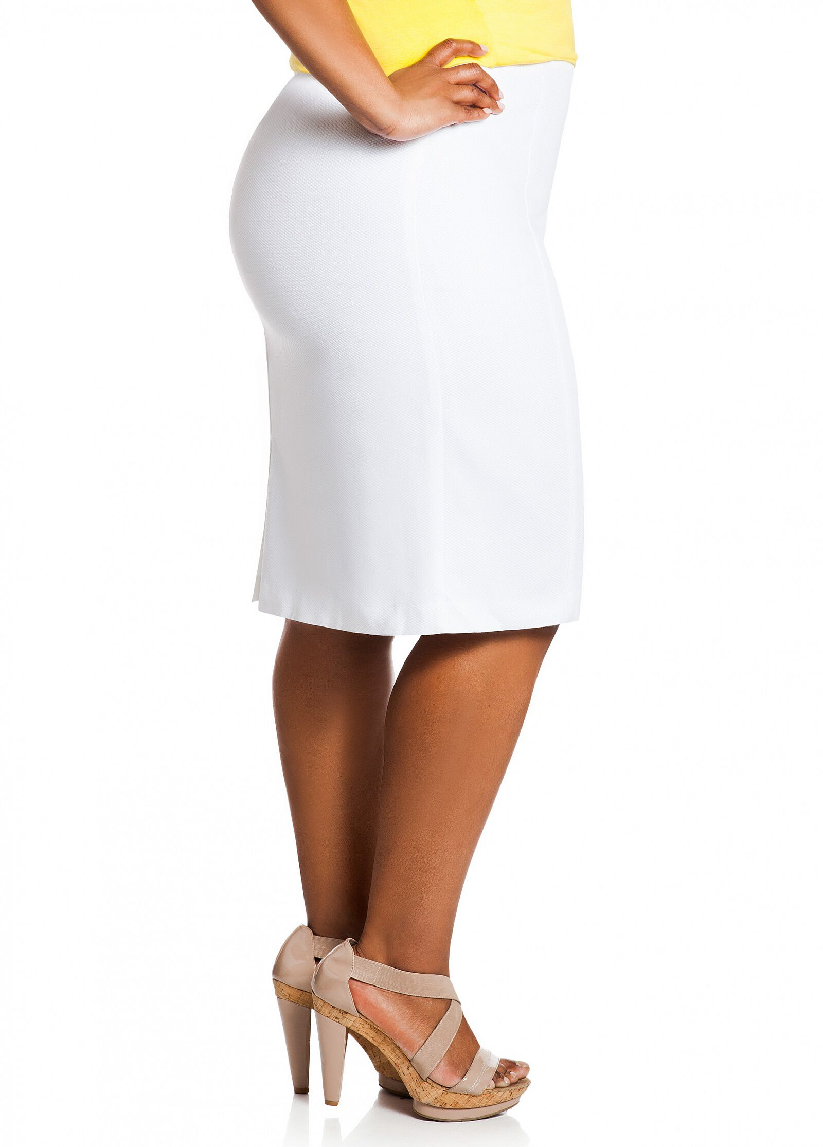 Solid Pique Skirt