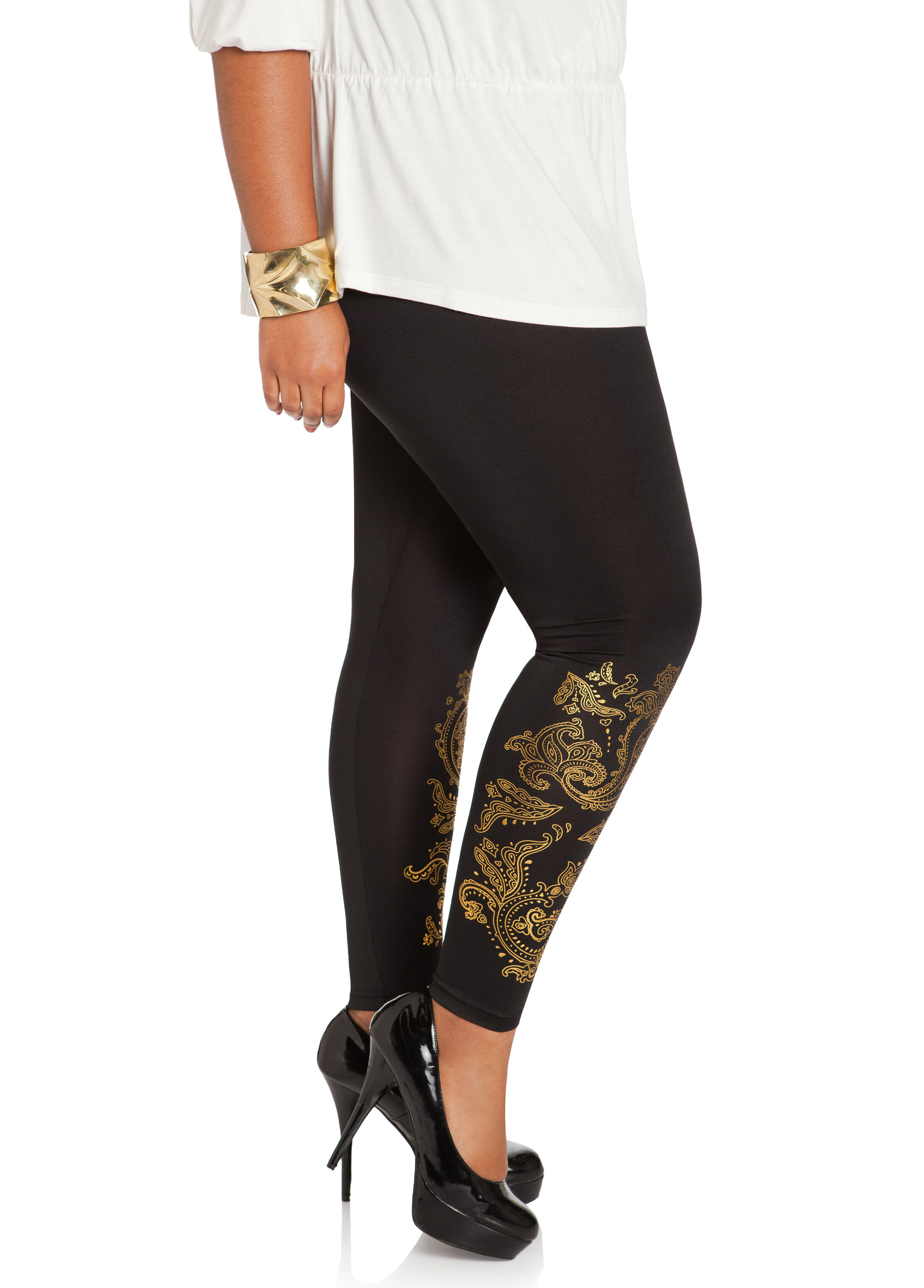 Side Paisley Leggings