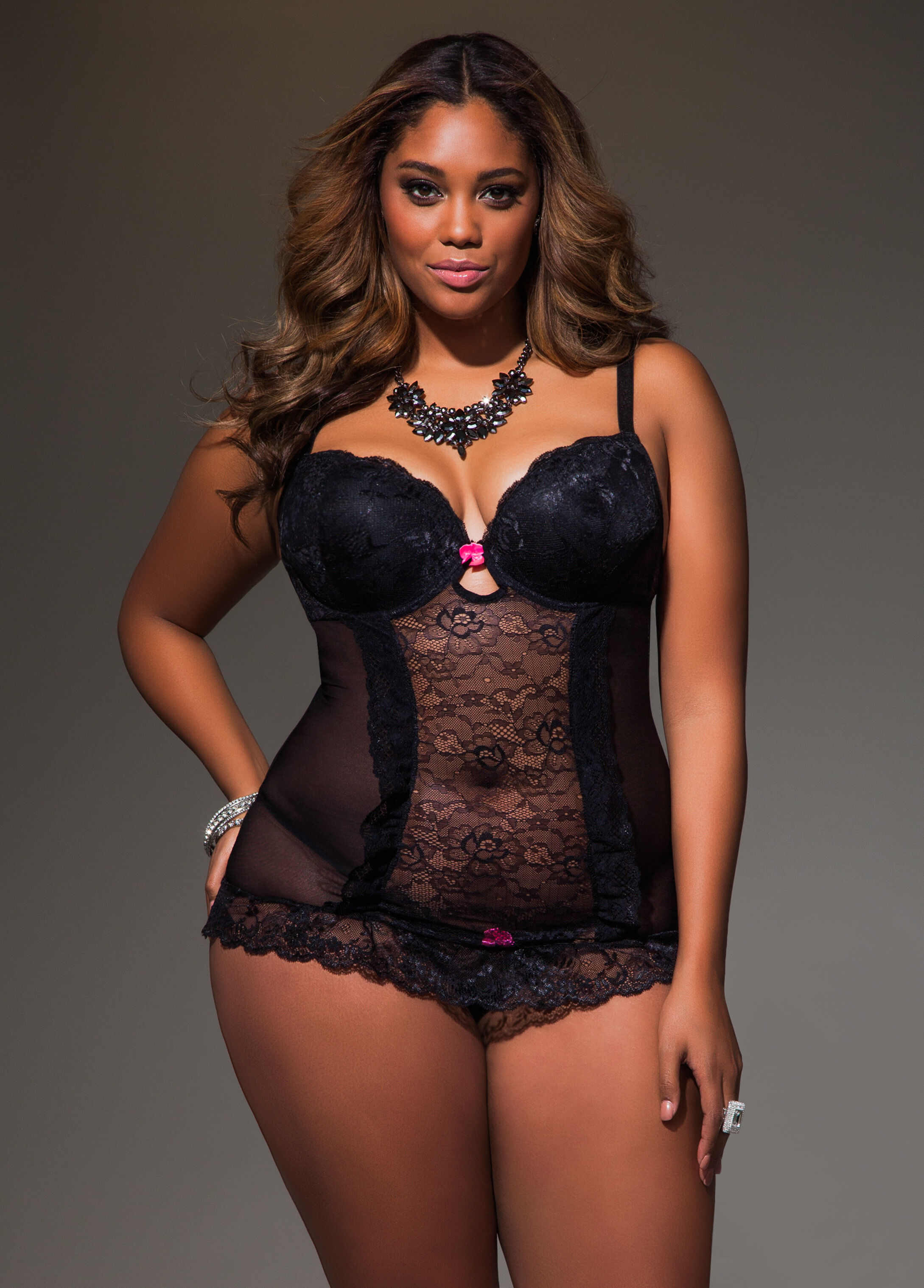 Mesh and Lace Baby Doll
