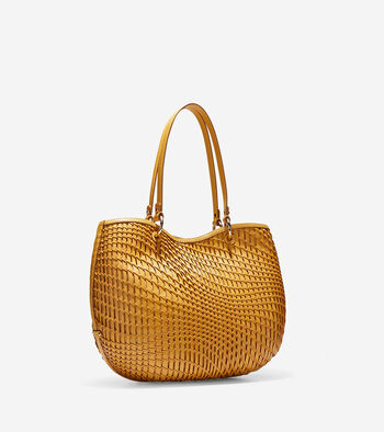 Genevieve Open Weave Small Tote