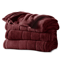 Sunbeam® King Channeled Microplush Heated Blanket, Garnet