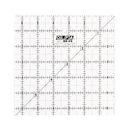 """6-1/2"""" Square Frosted Acrylic Ruler (QR-6S)"""
