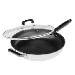 "Stainless Steel 12"" Non-Stick Skillet"