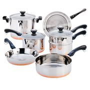 Copper Bottom 10-pc Cookware Set
