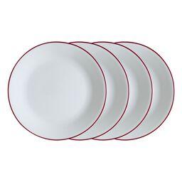 "Livingware™ Radiant Red 4-pc 10.25"" Plate Set"