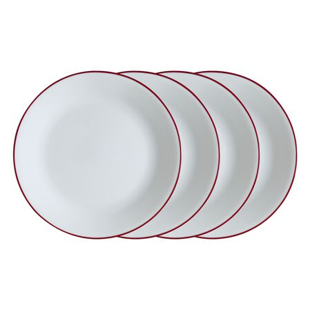 "Livingware™ Radiant Red 10.25"" 4-pc Plate Set"