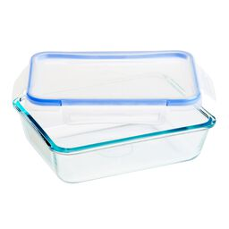 Total Solution™ 6-cup Rectangle Glass Food Storage w/ Plastic Lids