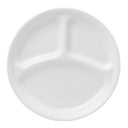 """Livingware™ Winter Frost White 10.25"""" Divided Plate"""