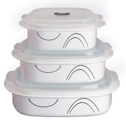 Coordinates® Simple Lines 6-pc Microwave Set