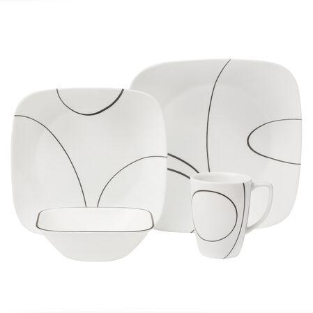 Square™ Simple Lines 16-Pc Dinnerware Set