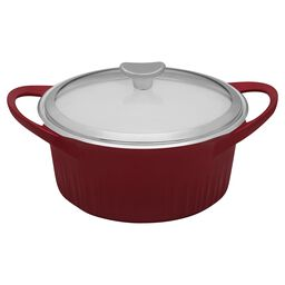 French White® Cast Aluminum™ 3.5-qt Tomato (Red) Round Dutch Oven
