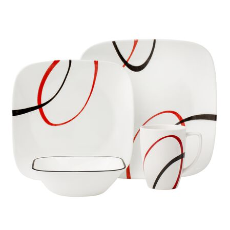Square™ Fine Lines 16-pc Dinnerware Set