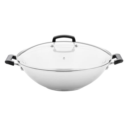 Stainless Steel Wok 14.5""