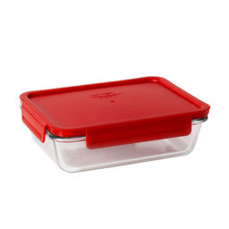 4-lock™ 6 Cup Rectangle Storage w/ Red Lid