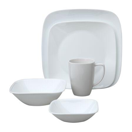 Square™ Pure White 30-pc Dinnerware Set