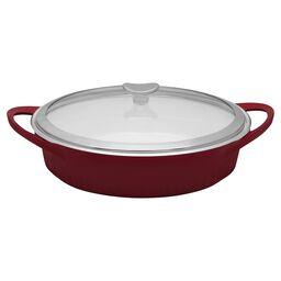 French White® Cast Aluminum™ 4-qt Tomato (Red) Braiser