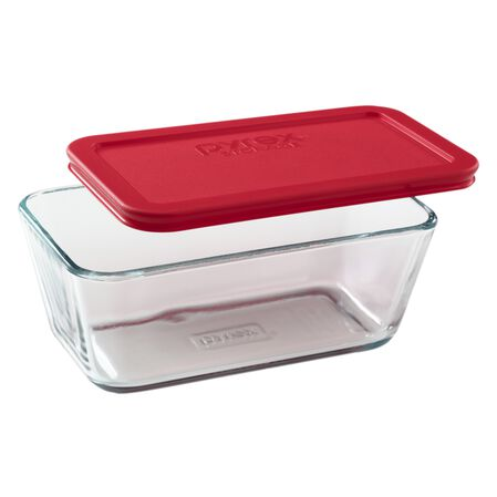 Simply Store® 4.75 Cup Rectangular Dish w/ Red Lid