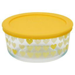 Simply Store® 4 Cup Yellow Hearts Storage Bowl w/ Lid