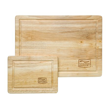 Woodworks™ Rubberwood 2-pc Cutting Board Set