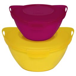 Entertain-a-Bowl 4-pc Small Value Pack, Yellow & Pink