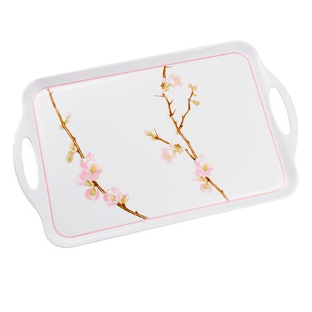 "Coordinates® Cherry Blossom 19'x10.5"" Serving Tray"