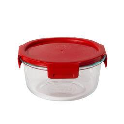 4-lock™ 4 Cup Round Storage w/ Red Lid