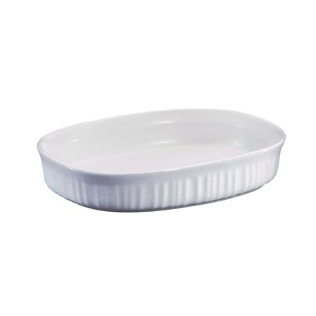 French White® 1.5-qt Shallow Oval Casserole