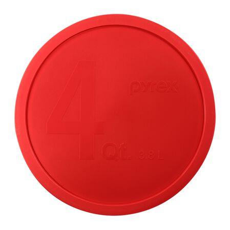 Plastic Lid 4-qt Round, Red