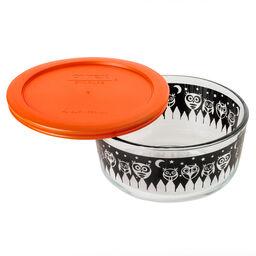 Storage Plus® 4 Cup Owl Halloween Storage Dish w/ Orange Plastic Cover