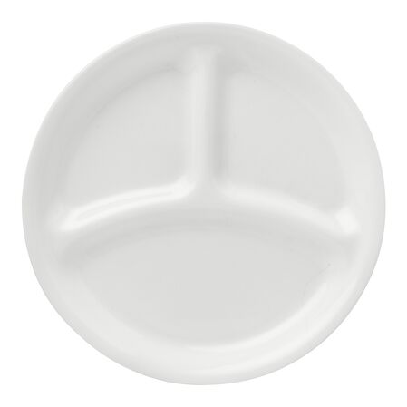 "Livingware™ Winter Frost White 8.5"" Divided Plate"