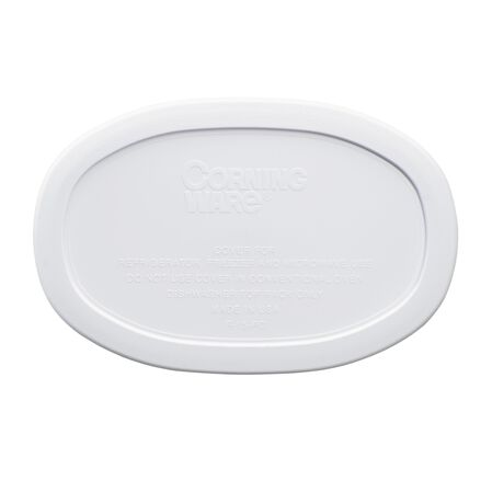 French White® 15-oz Oval Plastic Lid